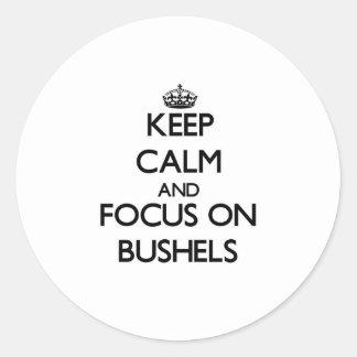 Keep Calm and focus on Bushels Sticker