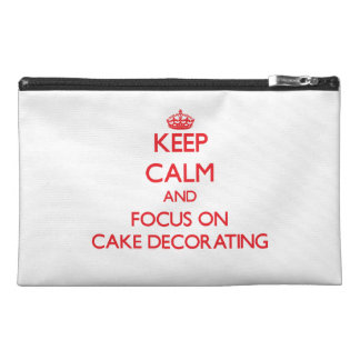 Keep Calm and focus on Cake Decorating Travel Accessories Bags