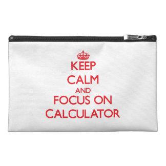 Keep Calm and focus on Calculator Travel Accessory Bag