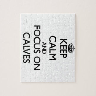 Keep Calm and focus on Calves Puzzle