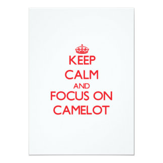 "Keep Calm and focus on Camelot 5"" X 7"" Invitation Card"