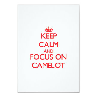"Keep Calm and focus on Camelot 3.5"" X 5"" Invitation Card"