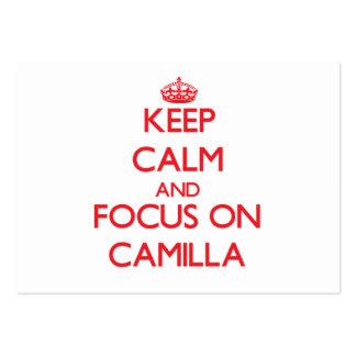 Keep Calm and focus on Camilla Business Card