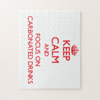 Keep Calm and focus on Carbonated Drinks Jigsaw Puzzle