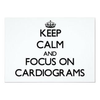 """Keep Calm and focus on Cardiograms 5"""" X 7"""" Invitation Card"""