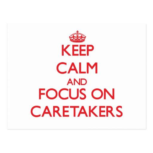 Keep Calm and focus on Caretakers Postcards