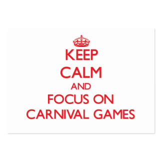Keep Calm and focus on Carnival Games Large Business Cards (Pack Of 100)