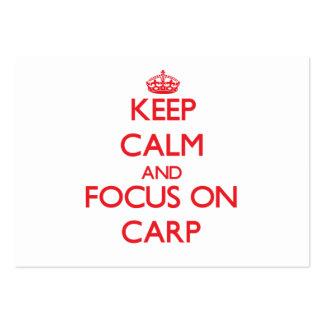 Keep Calm and focus on Carp Business Card