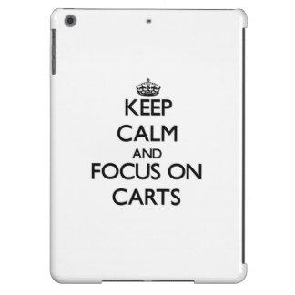 Keep Calm and focus on Carts iPad Air Cover