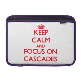 Keep Calm and focus on Cascades Sleeve For MacBook Air