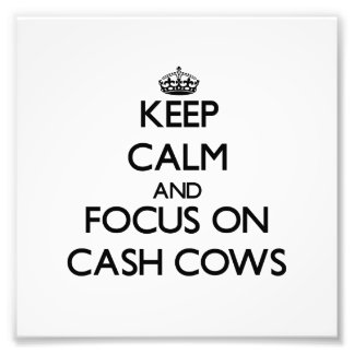 Keep Calm and focus on Cash Cows Photograph