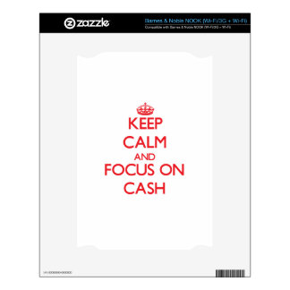 Keep Calm and focus on Cash Decal For NOOK