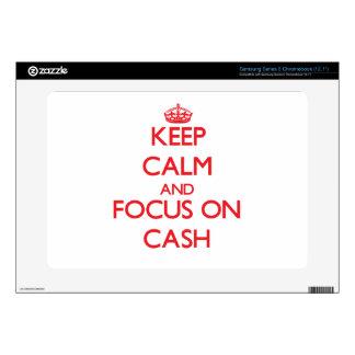 Keep Calm and focus on Cash Samsung Chromebook Decals