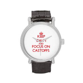 Keep Calm and focus on Castoffs Wrist Watch