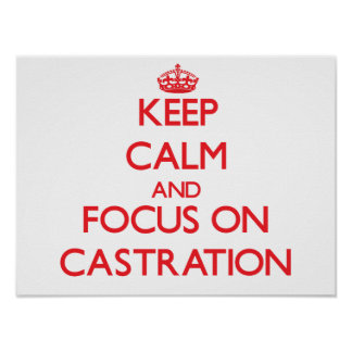 Keep Calm and focus on Castration Posters