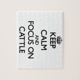 Keep Calm and focus on Cattle Puzzle