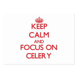 Keep Calm and focus on Celery Business Card