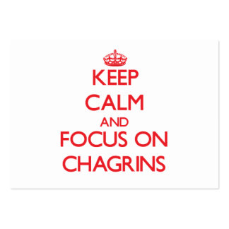 Keep Calm and focus on Chagrins Large Business Cards (Pack Of 100)