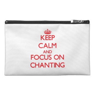 Keep Calm and focus on Chanting Travel Accessories Bags