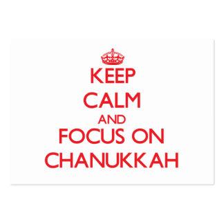 Keep Calm and focus on Chanukkah Business Card Template