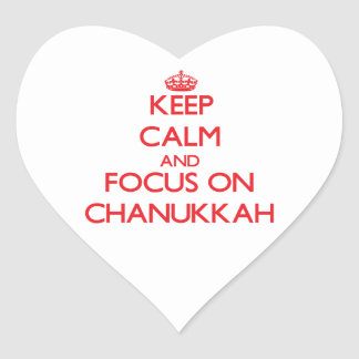Keep Calm and focus on Chanukkah Heart Sticker