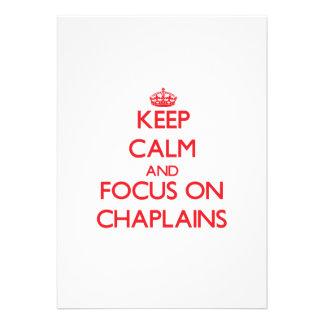 Keep Calm and focus on Chaplains Card
