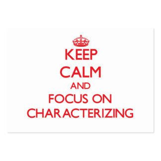 Keep Calm and focus on Characterizing Business Card Templates