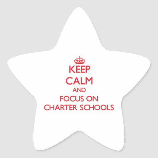 Keep Calm and focus on Charter Schools Star Sticker