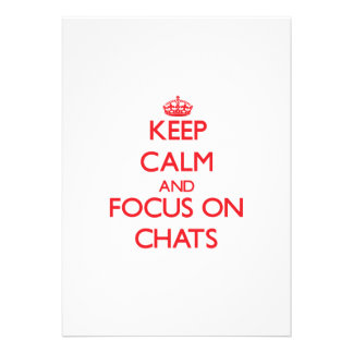 Keep Calm and focus on Chats Announcements
