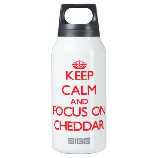 Keep Calm and focus on Cheddar SIGG Thermo 0.3L Insulated Bottle