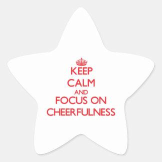Keep Calm and focus on Cheerfulness Star Sticker