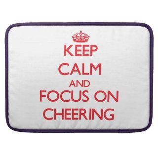 Keep Calm and focus on Cheering MacBook Pro Sleeve