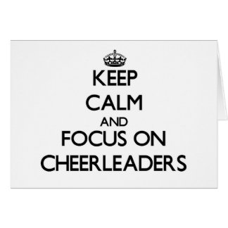 Keep Calm and focus on Cheerleaders Stationery Note Card