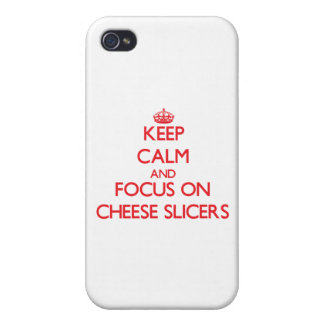 Keep Calm and focus on Cheese Slicers iPhone 4/4S Case