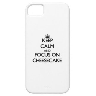 Keep Calm and focus on Cheesecake iPhone 5 Covers