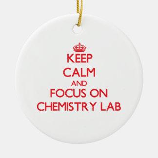 Keep Calm and focus on Chemistry Lab Christmas Ornament