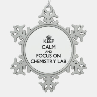 Keep Calm and focus on Chemistry Lab Ornaments