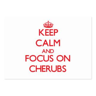 Keep Calm and focus on Cherubs Business Cards