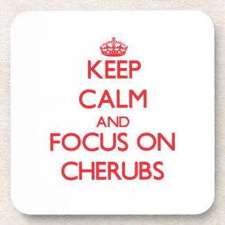 Keep Calm and focus on Cherubs Coaster