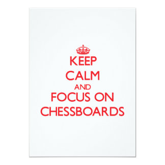 Keep Calm and focus on Chessboards Cards