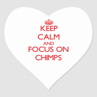 Keep Calm and focus on Chimps Stickers