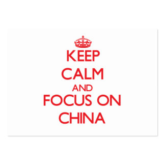 Keep Calm and focus on China Business Card