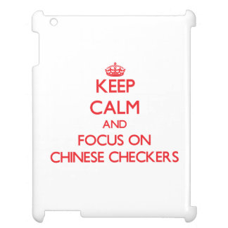 Keep calm and focus on Chinese Checkers iPad Case
