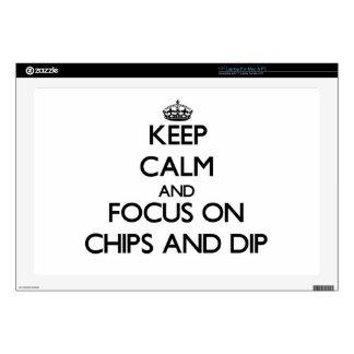 "Keep Calm and focus on Chips And Dip Skins For 17"" Laptops"