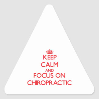 Keep Calm and focus on Chiropractic Triangle Sticker
