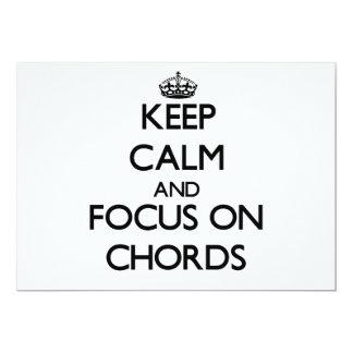 Keep Calm and focus on Chords Custom Invitations