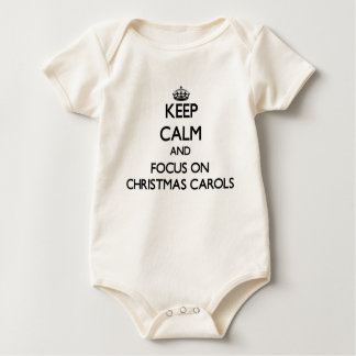 Keep Calm and focus on Christmas Carols Baby Bodysuits