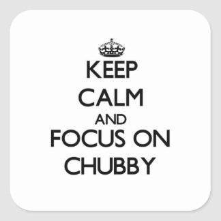 Keep Calm and focus on Chubby Stickers