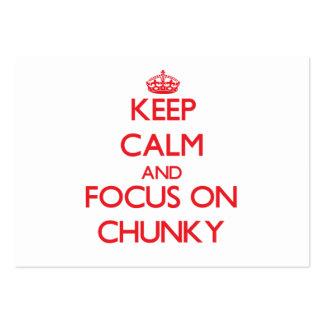 Keep Calm and focus on Chunky Business Cards