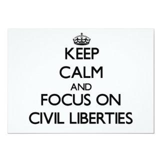 Keep Calm and focus on Civil Liberties Custom Announcements